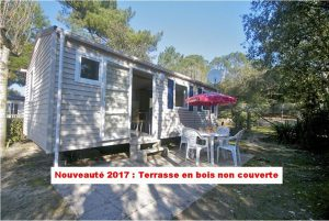 photo camping saint jean de monts vendee terrasse mobil home